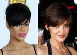 Rihanna e Kate Holmes Tendência de Cortes de Cabelo para 2012