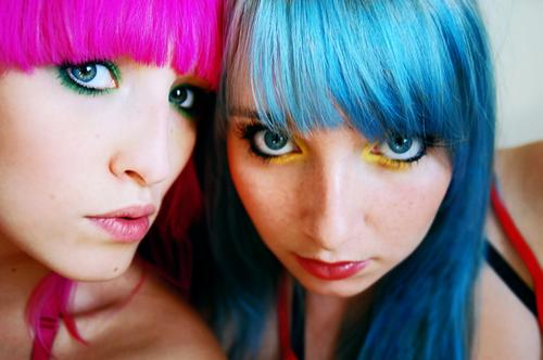 Cabelos coloridos