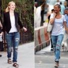 moda jeans rasgados