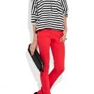 como usar Jeans vermelho