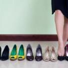 confortável com sapatos de salto