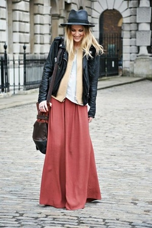 Como usar saias longas