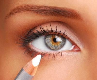 aumentar o olhar com maquiagem