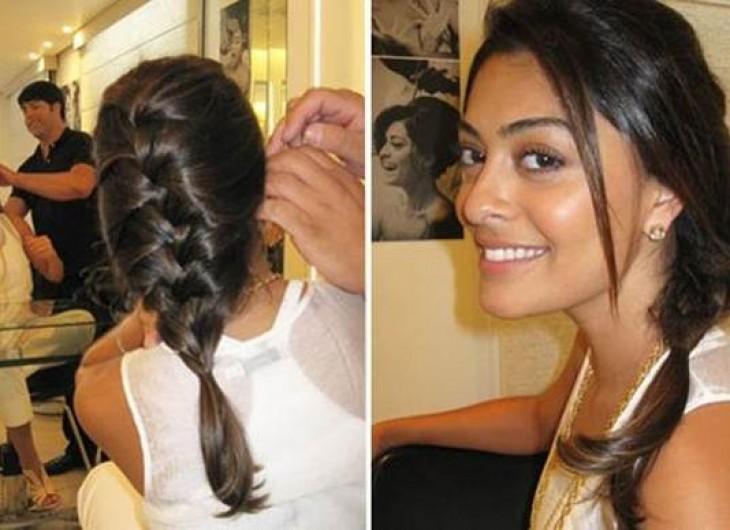 <p>trança embutida, normal ou de lado, use sua criatividade neste penteado jovem e prático!</p>