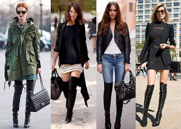 botas altas capa
