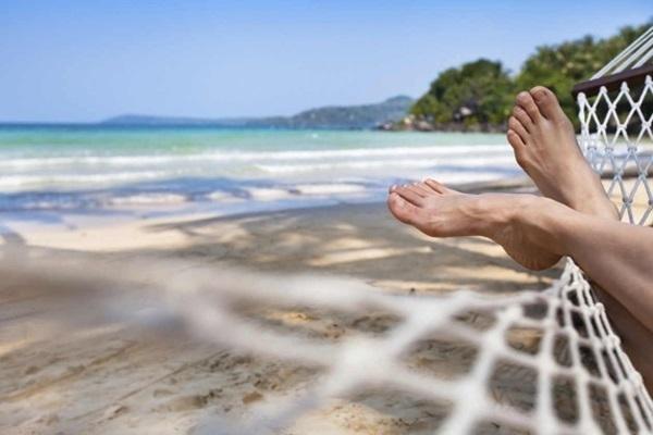 passos simples para praia